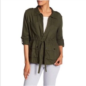 Sanctuary Linen Anorak Military Jacket Size Small